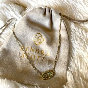 Kendra Scott gold and clear Necklace